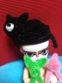 黒猫にゃーにゃー帽